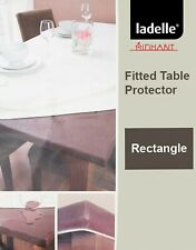Inhabit Waterproof Brown Fitted Table Protector by Ladelle | 107x214cm Rec