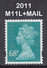 2011 Machin 68p Turquoise Green SG U2926 M11L+MAIL DLR 2B Used Security Stamp