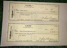 Ben Hogan Signed Checks (2) JSA LOA HOF PGA Golfer