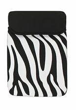 "iPad Sleeve Neoprene Slimline Design 8"" X 11"" - Zebra New"