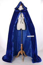 Cape-02 bleu blue Velours long Cape Habit Moyen-âge Gothique Vampire