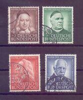 Bund 1953 - Wohlfahrt Mi.Nr. 173/176 rund gestempelt - Michel 100,00 € (997)