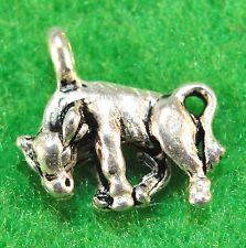 50Pcs. WHOLESALE Tibetan Silver 3D STEER Calf COW Charms Earring Drops Q1200