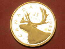 1985 Canada 25 cents proof       (lower your cost with combined shipping)