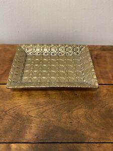 AERIN Shagreen | Vide Poche | Vanity Tray Small | Gold | Made in Italy