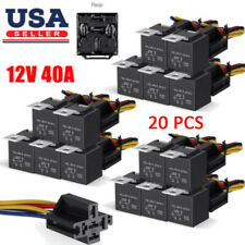 10-200Pcs 12V 40 Amp 5-Pin Car SPDT Automotive Relay + Wires Harness Socket Set
