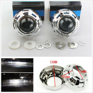 "2 Pcs 3"" HID Bi-Xenon Car Truck Projector Lens Headlight Retrofit Kit H1 H4 H7"