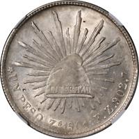 Mexico 1901 ZS FZ 1 Peso NGC Unc Details Obverse Damage