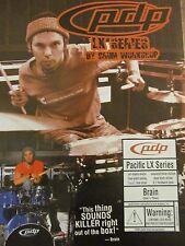 Brain, Guns N' Roses, PDP Drums, Full Page Vintage Promotional Ad