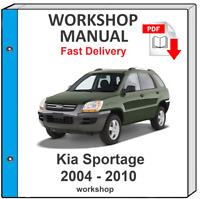 KIA SPORTAGE 2004 2005 2006 2007 2008 2009 2010 SERVICE REPAIR MANUAL WORKSHOP
