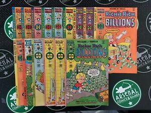 RICHIE RICH BILLIONS Lot of 15! (#18-47) Harvey Bronze Age Comics 1977-1982