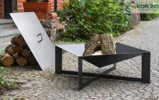 Feuerschale mit Deckel  Feuerkorb Grillfeuer Feuerstelle 70x70 / Höhe 30cm Stahl