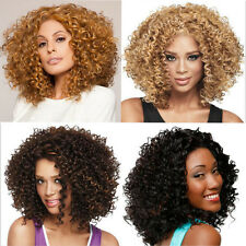 Perruque Ondulée Blonde Longue Bouclés Femmes Homme Short Ombre Wigs Hair Afro