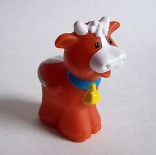 Fisher Price Little People COW w/ Yellow Bell Nativity Farm Barn Ark Zoo Animal