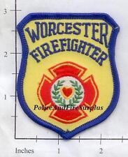 Massachusetts - Worcester Firefighter MA Fire Dept Patch