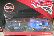 "DISNEY PIXAR CARS 3 ""2 PACK JACKSON STORM & DANNY SWERVEZ"" NEW IN PACKAGE"
