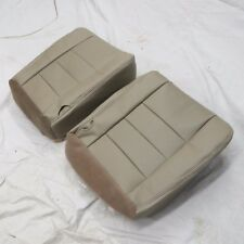 03- 07 Ford F 250 350 LARIAT Perforated Dr. Pa. Bottom  Leather seat cover  TAN