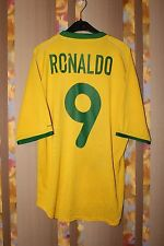 BRAZIL NATIONAL TEAM 2000 2001 2002 FOOTBALL SHIRT JERSEY HOME SIZE S RONALDO #9