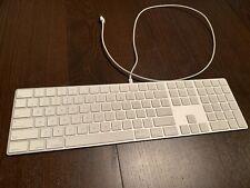 Apple Magic Keyboard with Numeric Keypad A1843 MQ052LL/A Bluetooth