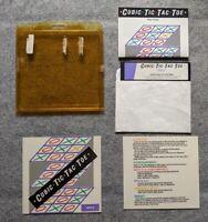 Cubic Tic-Tac-Toe Apple II IIe IIc II+ Silver Bullet Systems rare computer game