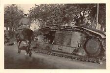 Zerstörter franz. Panzer Char B1 bei Laon Frankreich