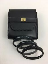 Vintage HOYA HMC 55mm Close-Up Macro Filter Set +4 +2 +1 in Protective Pouch