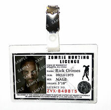 The Walking Dead Rick Grimes ID Badge Zombie Cosplay Prop Costume Comic Con