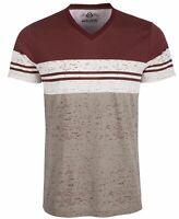 $115 American Rag Men's Red Striped Short-Sleeve Colorblocked V-Neck T-Shirt L