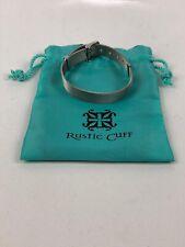 Rustic Cuff Silver Belt Bracelet With Bag