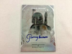 Star Wars Masterwork Autograph 2018 Jeremy Bulloch, Boba Fett A-JB Topps Card