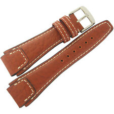 22mm Rios Mens Nature Cognac Tan Buffalo Leather German Pilot Watch Band Strap