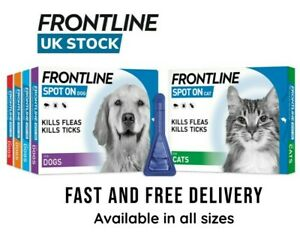 FRONTLINE SPOT ON CAT DOG Flea Tick Lice Mites Treatment -1,2,3 and 6 Pack Sizes