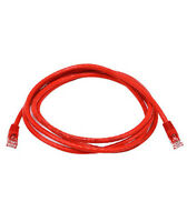 7ft Cat6 Crossover Network Ethernet Internet Cable Wire Red 500MHz 24AWG LAN 7'