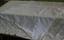"""SHEER WHITE BATTENBURG LACE 40"""" TABLECLOTH TABLE TOPPER"""