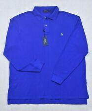 Polo Ralph Lauren Shirt Long Sleeve Mesh Blue 4XB 4XLT Big Tall NWT