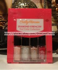 SALLY HANSEN 4pc DIAMOND STRENGTH Mini Nail Polish Collection/Kit/Set/Lot