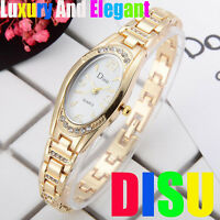 Fashion Womens Ladies Watches Crystal Stainless Steel Analog Quartz Wrist Watch