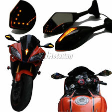 MOTORCYCLE LED TURN SIGNAL MIRRORS FOR KAWASAKI NINJA 650R 500R 250R 636
