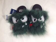 NEW MONSTER Child Slippers S 9 / 10 Green Animal Fur Halloween Costume Shoes