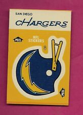 1984 SAN DIEGO CHARGERS  NFL FOOTBALL STICKERS SHEDULE NRMT CARD (INV#0890)