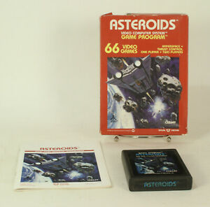 Vintage Boxed Atari 2600 game Asteroids Tested & Working @