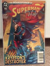 Adventures Of Superman 625 Signed By Talent Caldwell Michael Turner Cover Comic