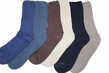 12 Pares de Calcetines para hombre 100% algodón no elástico suelta suave diabético superior 6-11 mixto