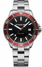 Raymond Weil 8260-ST4-20001 Tango Stainless Steel Black Dial Red Bezel Watch