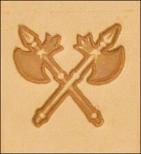 8566 Craftool 3-D Stamp Crossed Blades Tandy Leather 8566-00