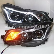 2011 to 2015 Year for Subaru XV Impreza LED Strip Head Lamps Front Lights TLZ
