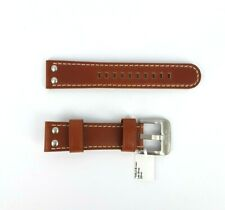 TW Steel TWB23 Brown Genuine Leather Watch Strap w/ Silver Clasp 22mm RRP$69