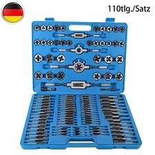Gewindeschneider Satz 110-tlg. Feingewinde Gewindebohrer Metrisch Werkzeug Set