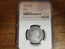 1806 DRAPED BUST NGC G4 QUARTER 25¢
