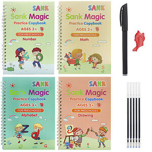 Handwriting Copybook Reused Groove Practice Magic Calligraphy Book for Kid Gift
